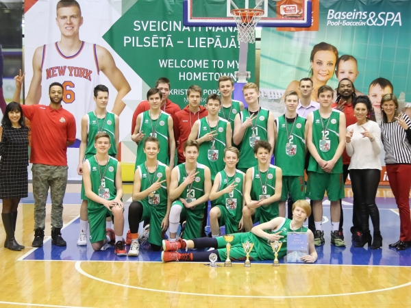 Liepājas Sporta spēļu skolas U15 komandai 2. vieta EYBL 3. posmā