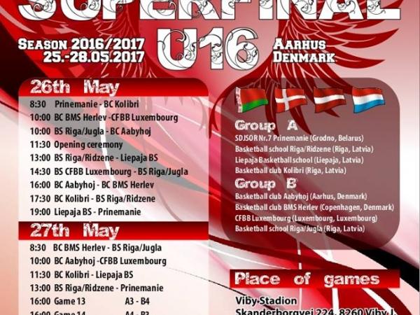 26.maijā Eiropas Meiteņu basketbola līgas superfinālā Dānijā spēlēs LSSS U16 komanda! Seko līdzi tiešraidē!