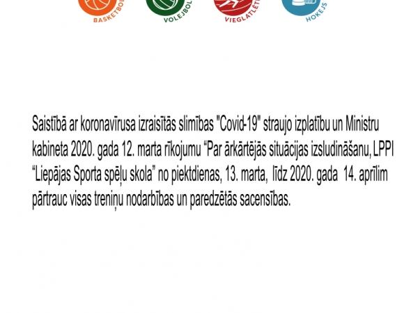 Informācija sakarā ar Ministru kabineta izdoto rīkojumu